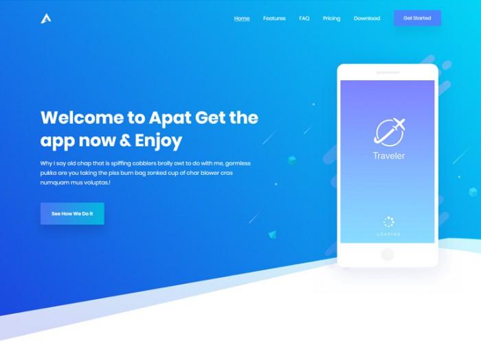 Apat – Premium Responsive ReactJS App Landing HTML5 Template