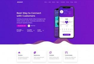 Apdash – Premium Responsive App Landing Page HTML5 Template