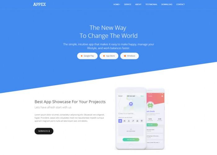 Appex – Premium Responsive App Landing HTML5 Template