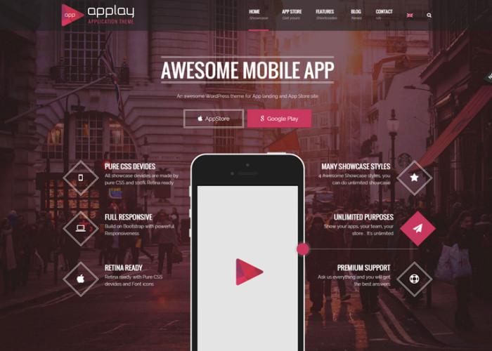 Applay – Premium Responsive App Showcase & App Store WordPress Theme