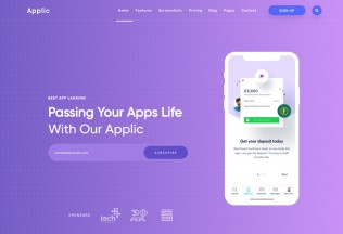 Applic – Premium Responsive App Landing WordPress Theme