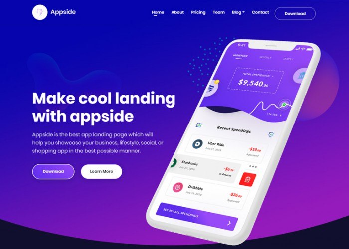 Appside – Premium Responsive App Landing Page HTML5 Template