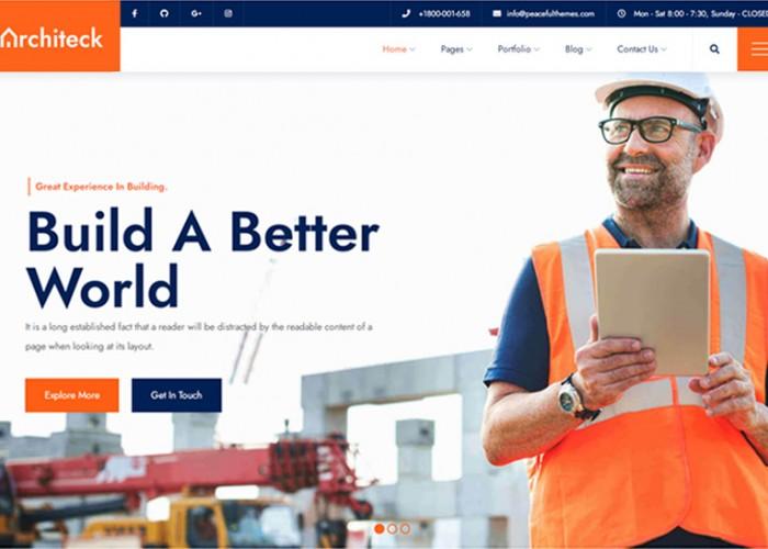 Architeck – Premium Responsive Construction WordPress Theme