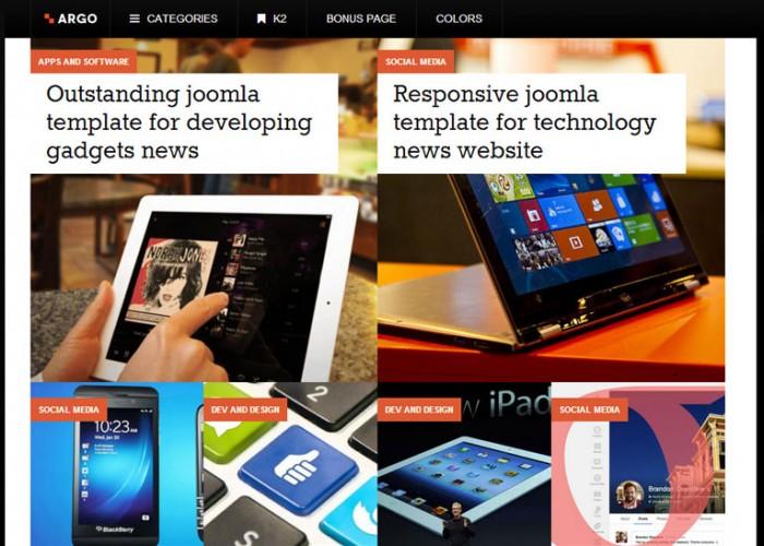 Argo – Joomla Premium Responsive Template
