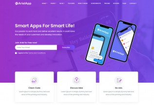 Ariel – Premium Responsive App Landing Page HTML5 Template