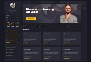 Arter – Premium Responsive CV Resume WordPress Theme