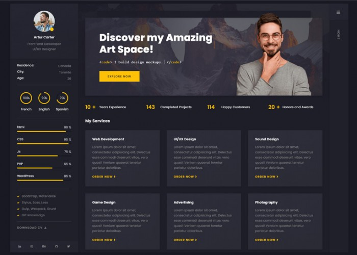 Arter – Premium Responsive CV Resume WordPress Theme