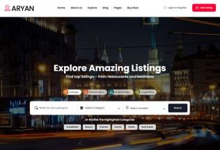 Aryan – Premium Responsive Listing & Directory WordPress Theme