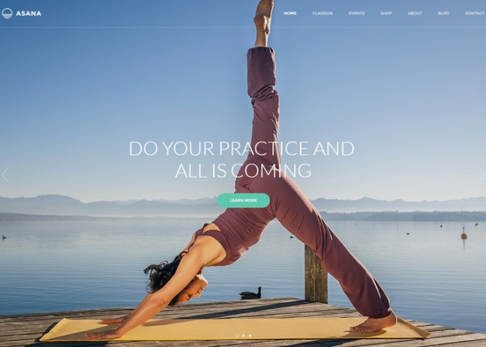 Asana – Premium Responsive Sport and Yoga WordPress Theme