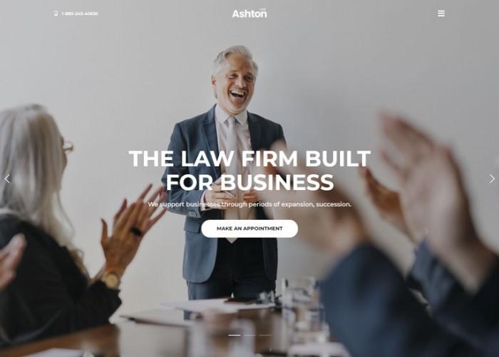 Ashton – Premium Responsive Lawyer Attorney WordPress Theme