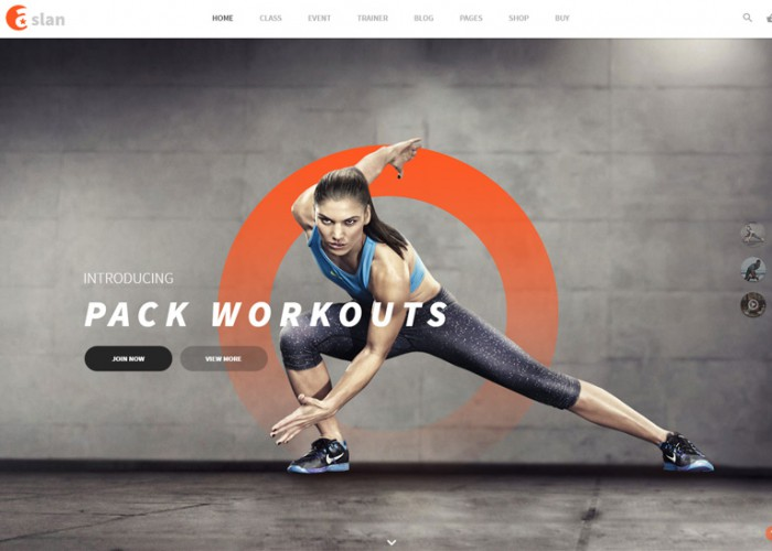Aslan – Premium Responsive Gym & Fitness WordPress Theme