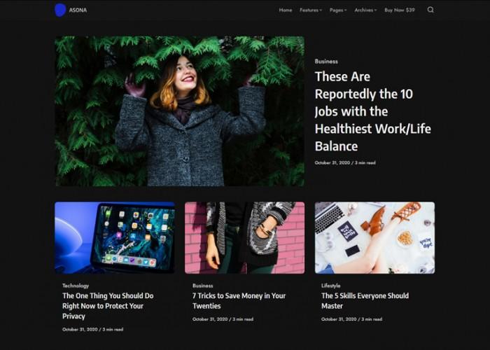 Asona – Premium Responsive Blog & Magazine WordPress Theme