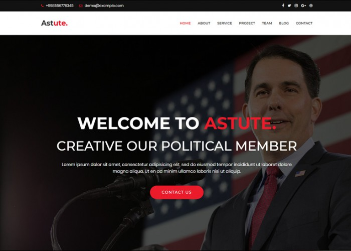 Astute – Premium Responsive Political WordPress Theme