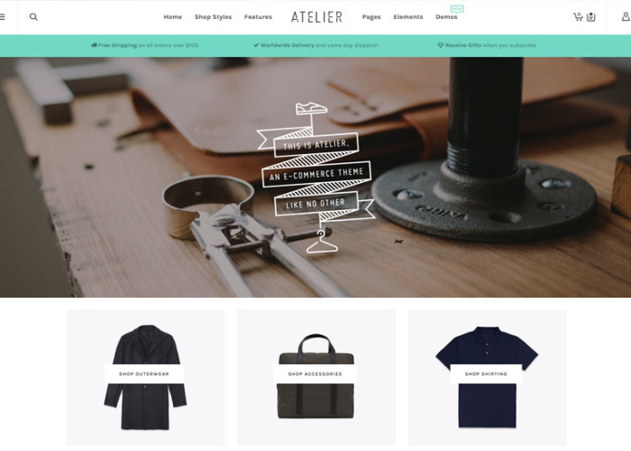 Atelier – Premium Responsive Multi-Purpose eCommerce WordPress Theme
