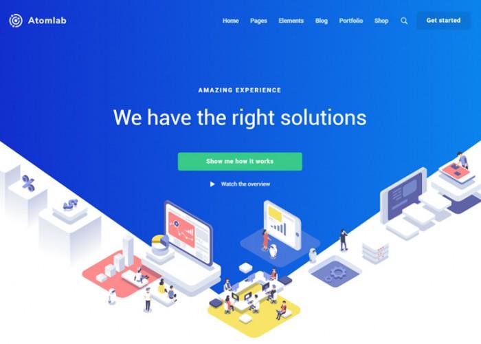 Atomlab – Premium Responsive Multipurpose Startup WordPress Theme