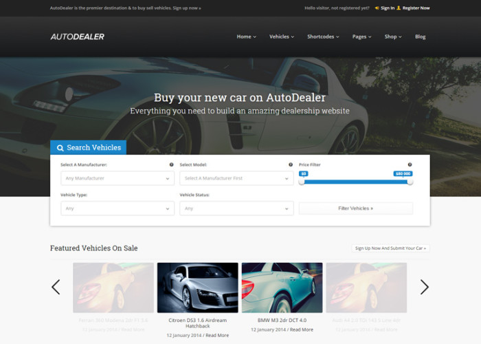AutoDealer – Premium Responsive Car Dealer WordPress Theme