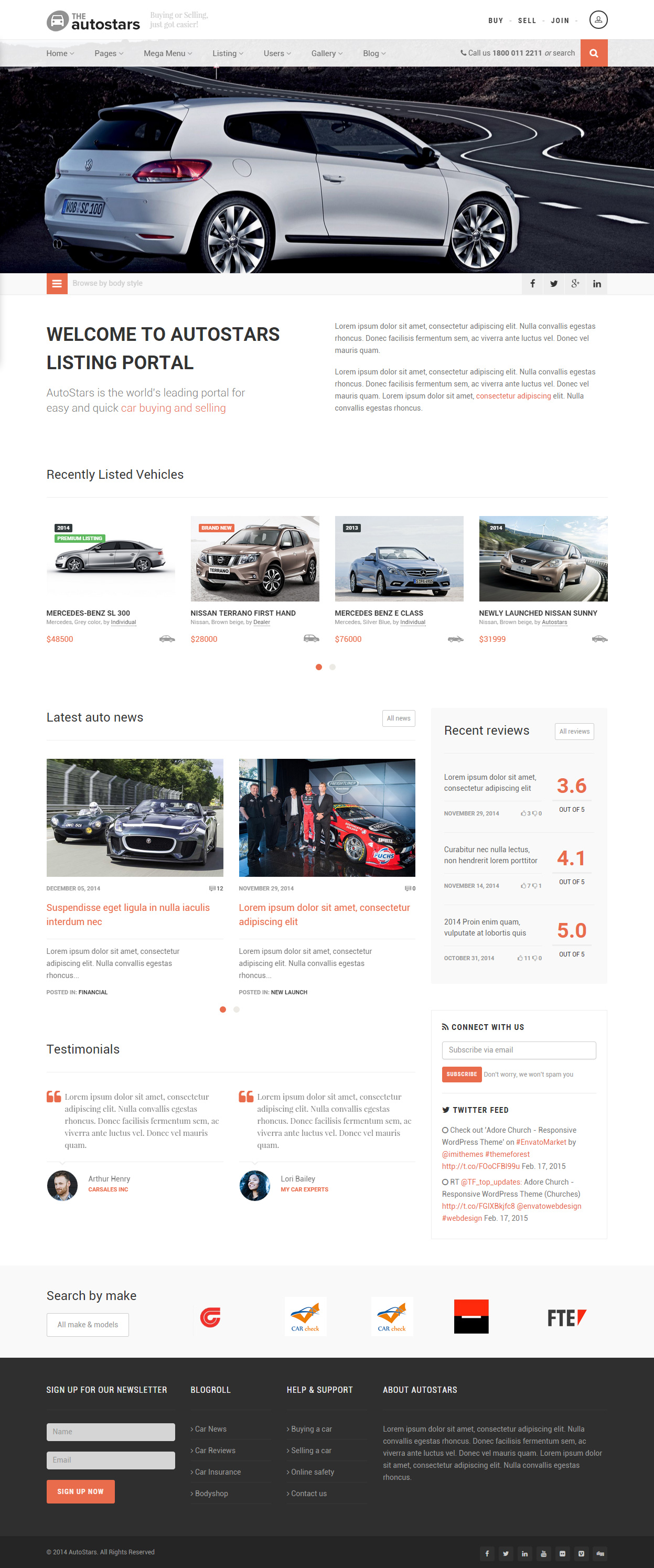 10 Best Responsive Html5 Cars And Car Dealership Templates 2015