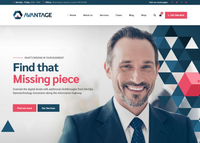 Avantage – Premium Responsive Consulting WordPress Theme