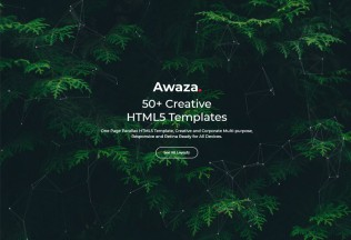 Awaza – Premium Responsive One Page Multipurpose HTML5 Template