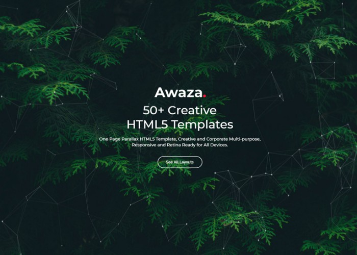 Awaza – Premium Responsive One Page Multipurpose HTML5 Template