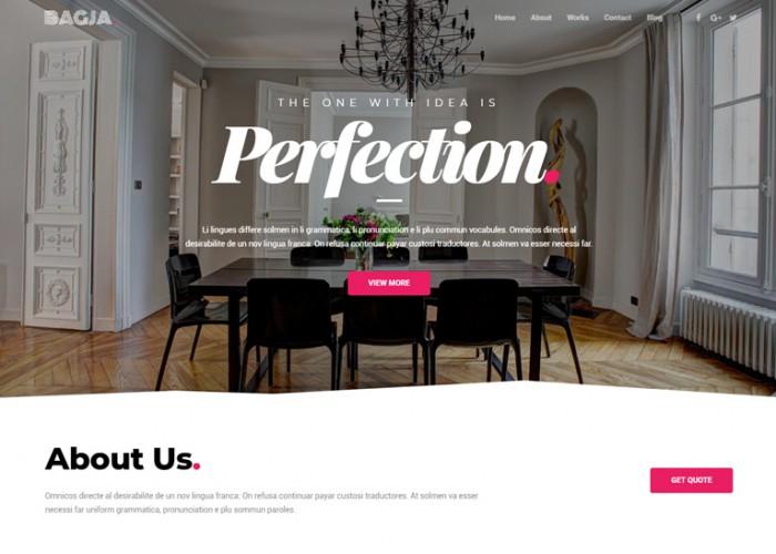 Bagja – Premium Responsive Portfolio WordPress Theme