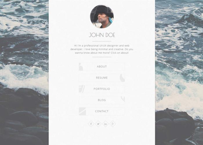 Balloon – Premium Responsive Personal vCard WordPress Theme