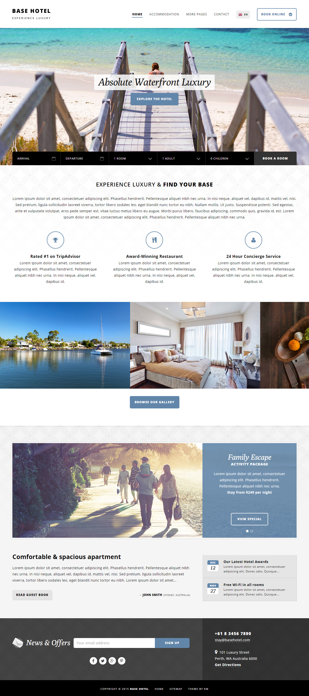 5+ Best Responsive HTML5 Booking Templates in 2015 - Responsive Miracle
