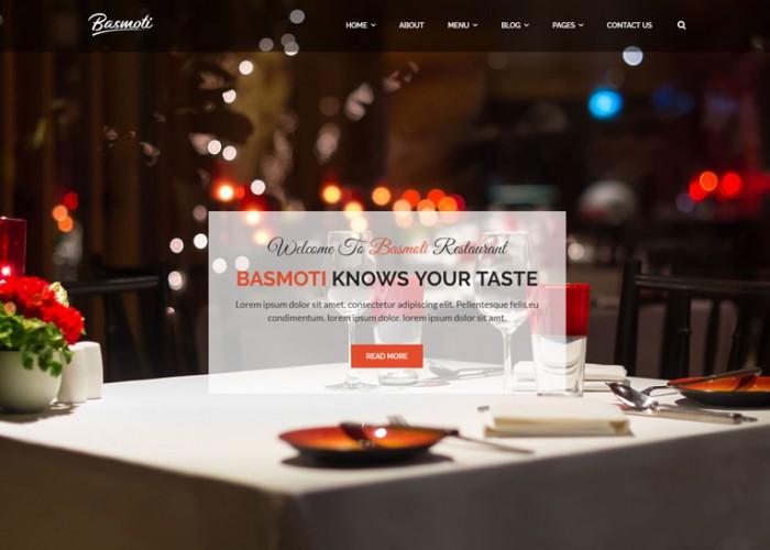 Basmoti – Premium Responsive Restaurant Bootstrap 4 HTML5 Template
