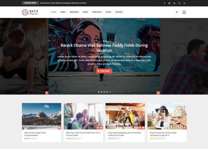 Batiz – Premium Responsive Magazine News Drupal 8.5 Theme