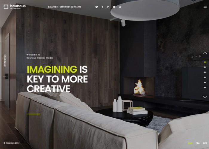 Bauhaus – Premium Responsive Architecture & Interior HTML5 Template