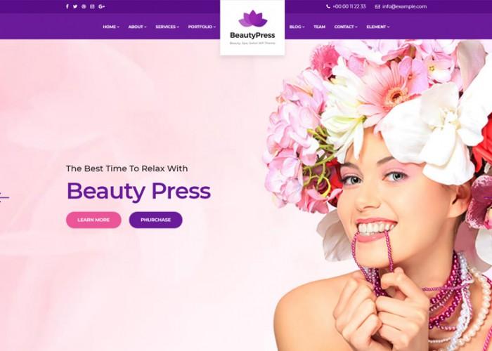BeautyPress – Premium Responsive Beauty Salon Spa WordPress Theme