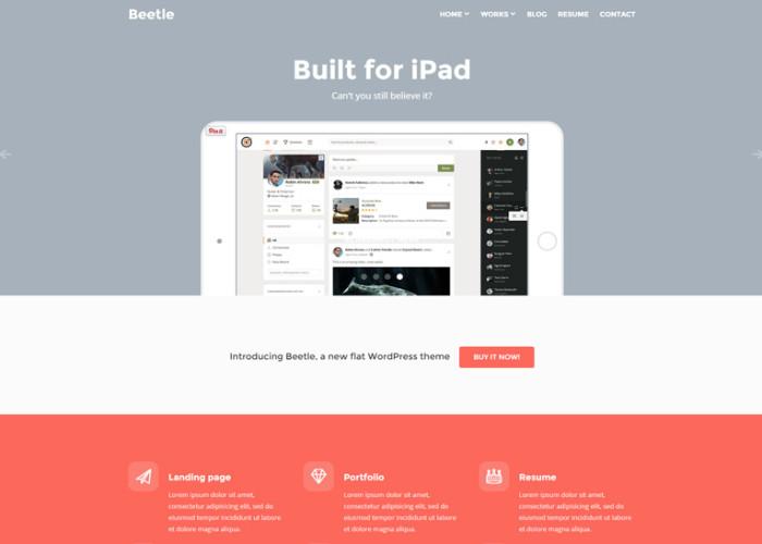 Beetle – Premium Responsive Flat WordPress Theme