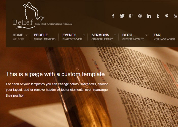 Belief – Premium Responsive WordPress Theme for Churches