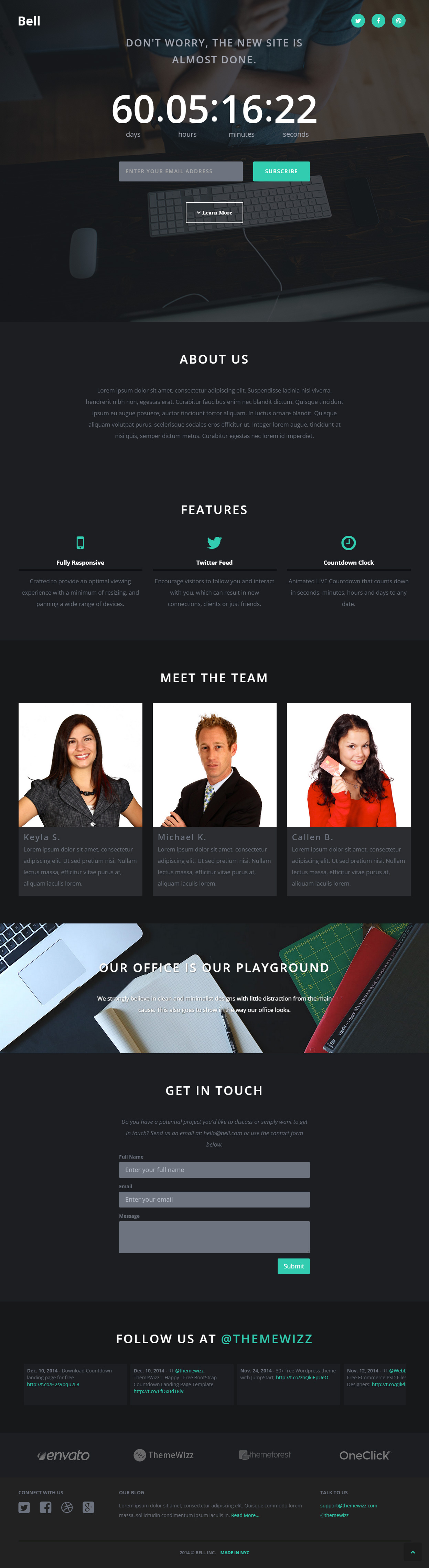 Bell - Premium Responsive Landing Page HTML5 Template