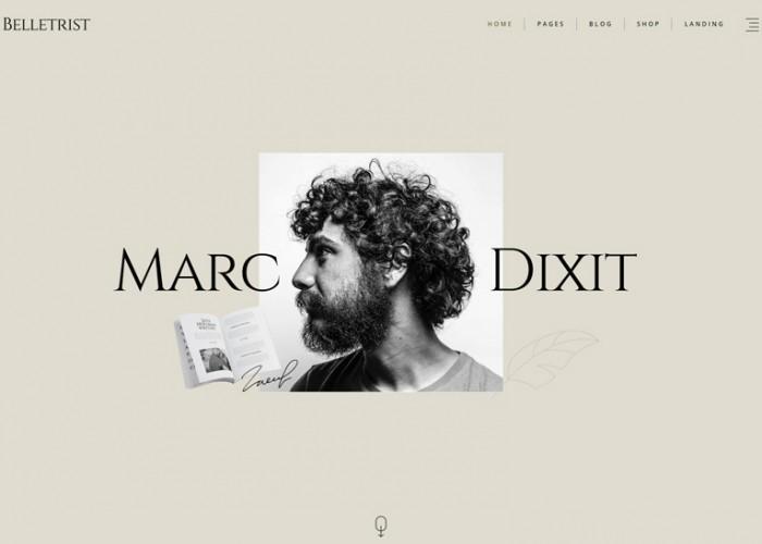 Belletrist – Premium Responsive Writers Blog WordPress Theme