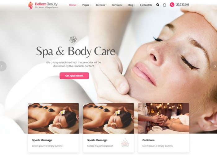 Belleza – Premium Responsive Beauty & Hair Salon WordPress Theme