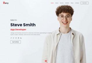 Beny – Premium Responsive Personal Portfolio React HTML5 Template
