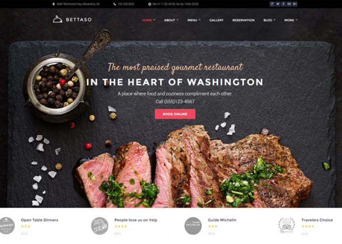 Bettaso – Premium Responsive Cafe & Restaurant WordPress Theme