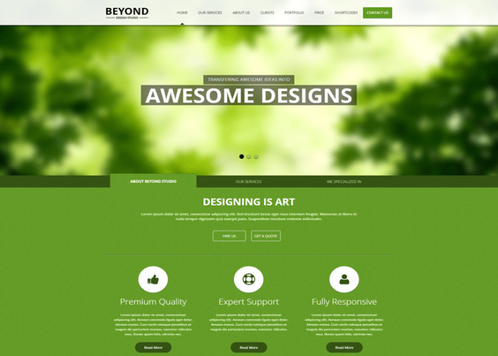 Beyond – Premium Responsive Landing Page HTML5 Template