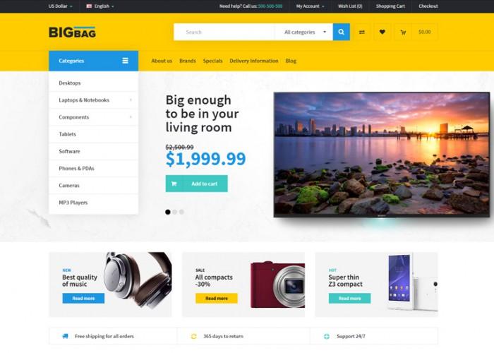 BigBag – Premium Responsive  Multipurpose OpenCart Theme