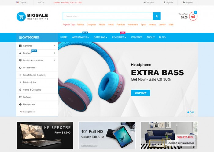 Bigsale – Premium Responisve Multipurpose Magento 2 Theme
