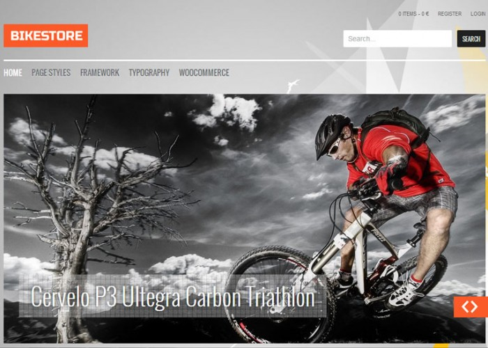 Bike Store – Premium Responsive WordPress eCommerce Theme