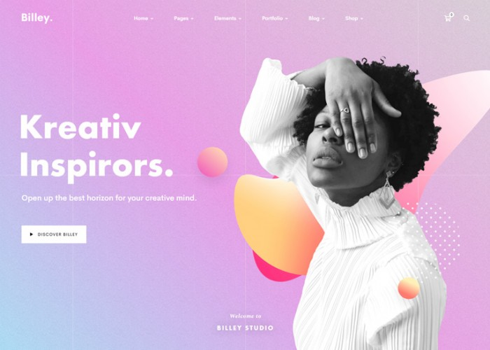 Billey – Premium Responsive Creative Agency WordPress Theme