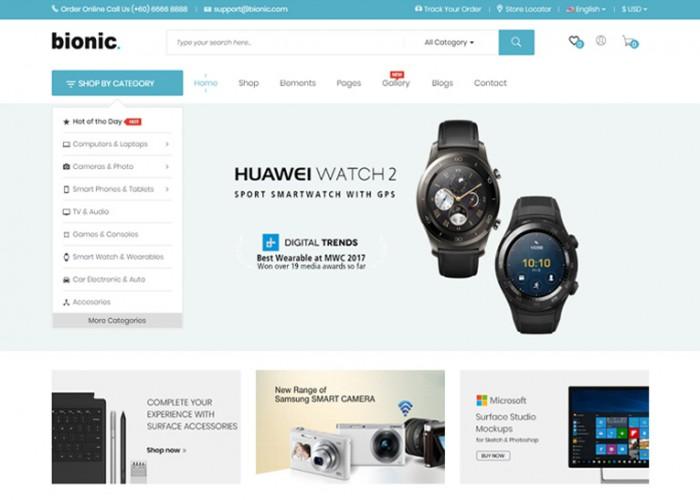 Bionic – Premium Responsive Digital Store Prestashop Theme