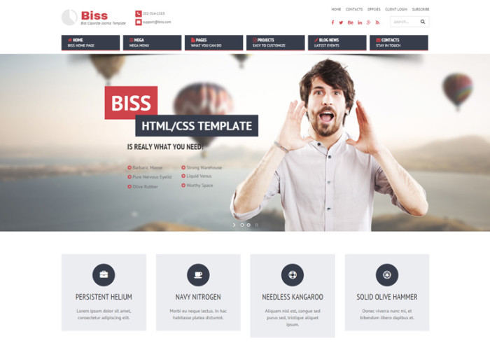Biss – Premium Responsive Corporate Virtuemart Joomla Template
