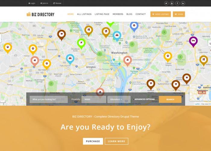 Biz Directory – Premium Responisve Directory Drupal Template