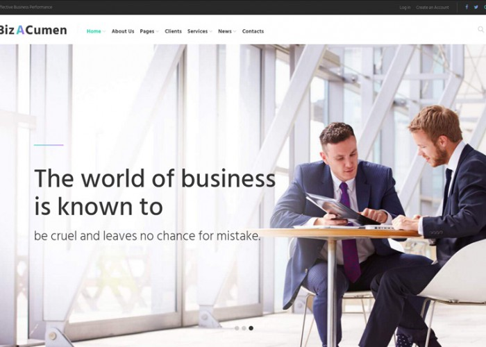 BizACumen – Premium Responisve Consulting WordPress Theme