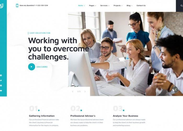 Bizconmy – Premium Responsive Business Consulting WordPress Theme