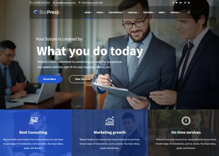 BiziPress – Premium Responsive Multipurpose Business Joomla Template