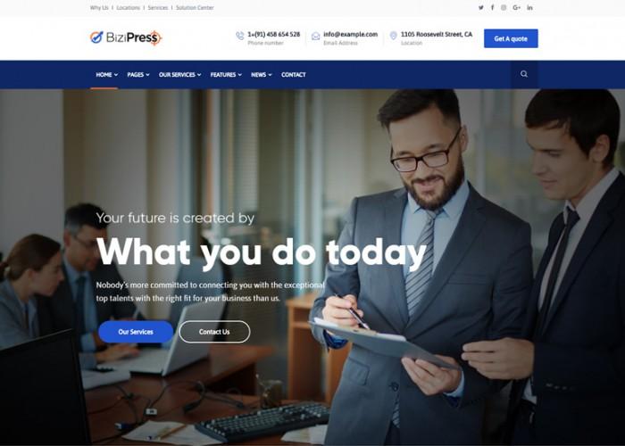 BiziPress – Premium Responsive Finance & Insurance WordPress Theme